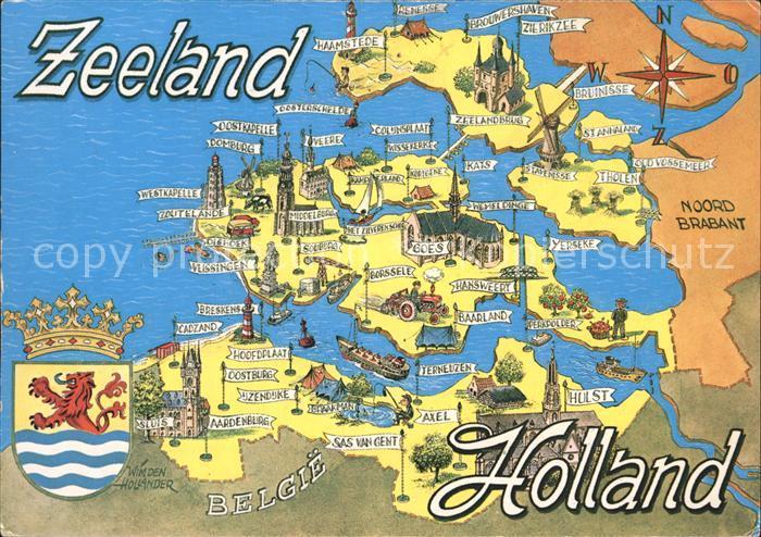 Zeeland Karte Niederlande.Cadzand Zeeland Hedenesse Nr Ka45150 Oldthing Niederlande Unsortiert