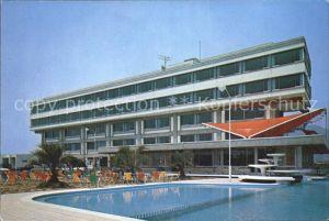 Japan Hotel Swimming Pool in der Naehe vom Biwasee Kat. Japan