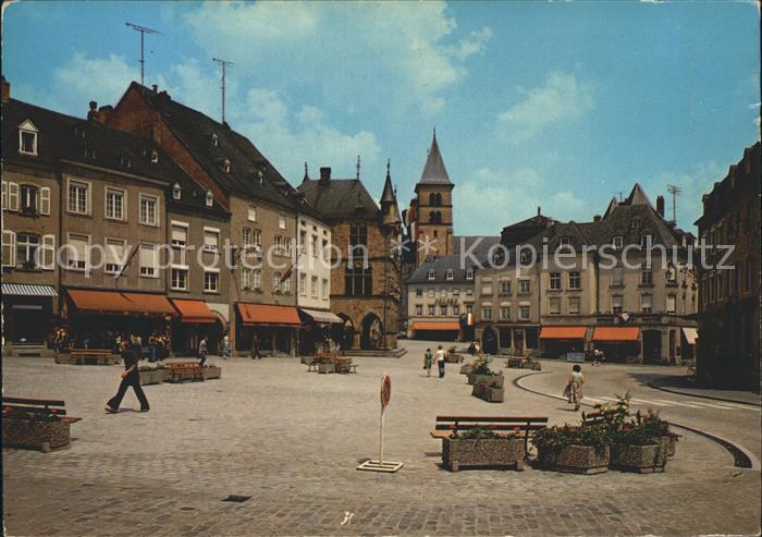 Echternach Place du Marche Kat. Luxemburg