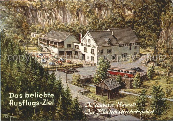 Cochem Mosel Gasthaus Pension Weissmuehle Kat. Cochem