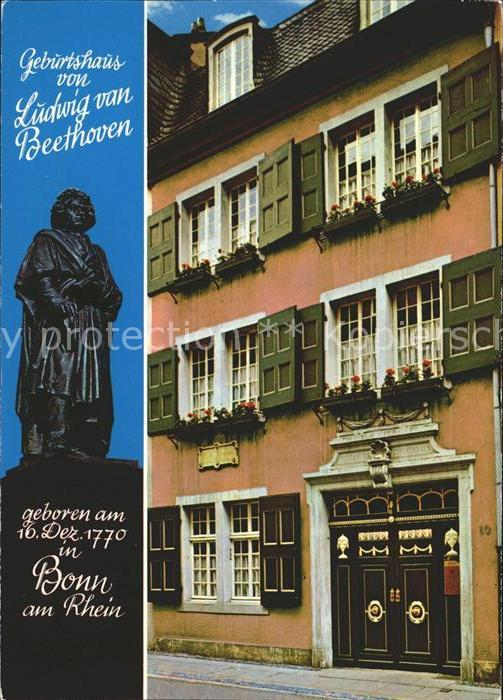 Bonn Rhein Geburtshaus Ludwig Beethoven  Kat. Bonn