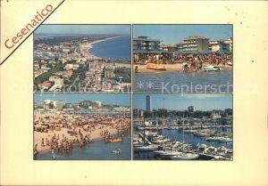 Cesenatico Strand Hafen Fliegeraufnahme Kat. Italien