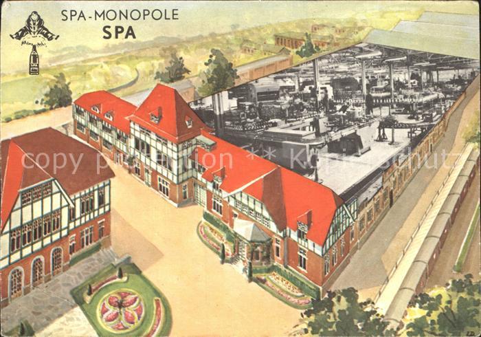 Spa Liege Monopole Zeichnung Kat.