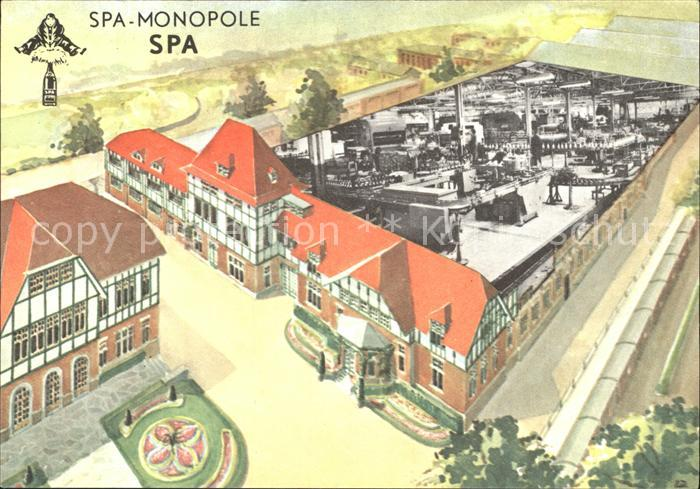 Spa Liege Monopole Zeichnung /  /
