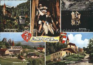 Duernberg Hallein Salzsee Gondelbahn Kuranstalt St. Josef Bergeinfahrt  Kat. Hallein
