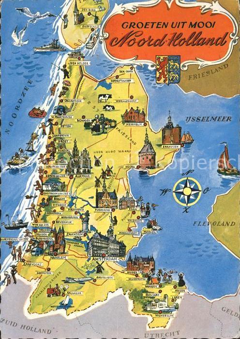 Niederlande Ijsselmeer Karte.Velsen Nord Holland Karte Ijsselmeer Flevoland Kat Velsen