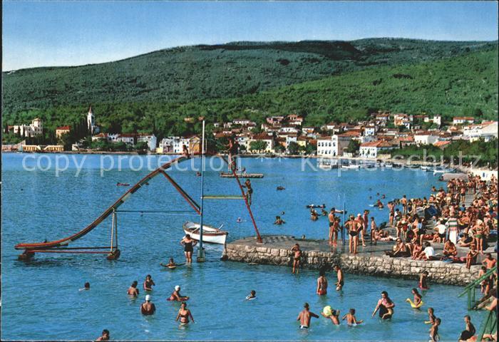 selce crikvenica strand kat kroatien nr kg81757 oldthing ansichtskarten europa gebiete ehm. Black Bedroom Furniture Sets. Home Design Ideas
