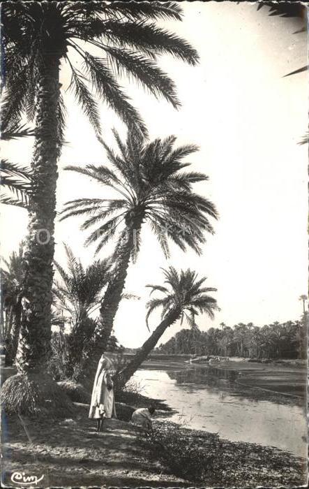 Afrika Africa Afrique Volksleben Typen partie am Fluss Kat. Niger