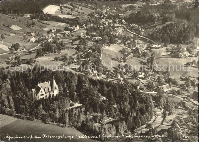 Agnetendorf Riesengebirge Fliegeraufnahme Gerhart Hauptmann Haus