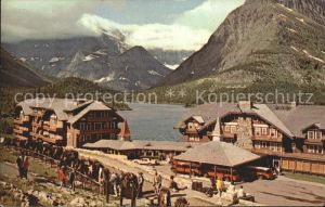 Glacier National Park US Many Glacier Hotel Lake / Glacier National Park /