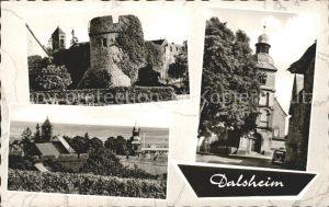 Dalsheim Burg Stadtmauer Kirche