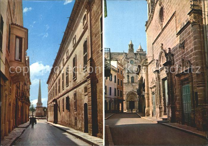 Menorca Calle Mayor del Borne Calle Rosario Kat. Spanien