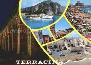 Terracina Strand Schiff / Terracina /Latina
