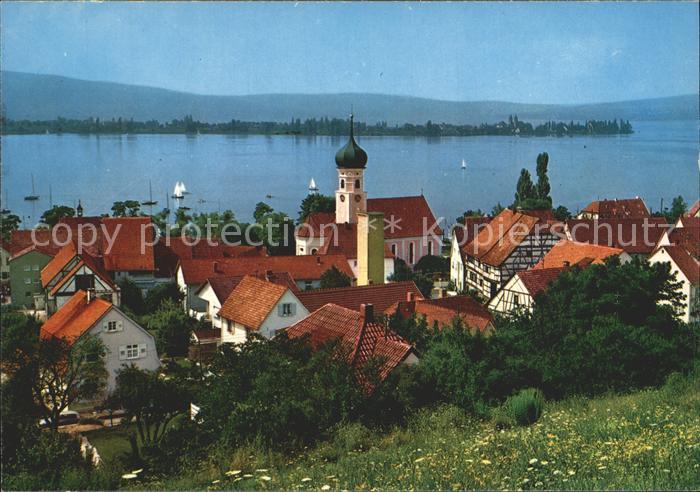 Allensbach Bodensee mit Insel Reichenau Kat. Allensbach Bodensee