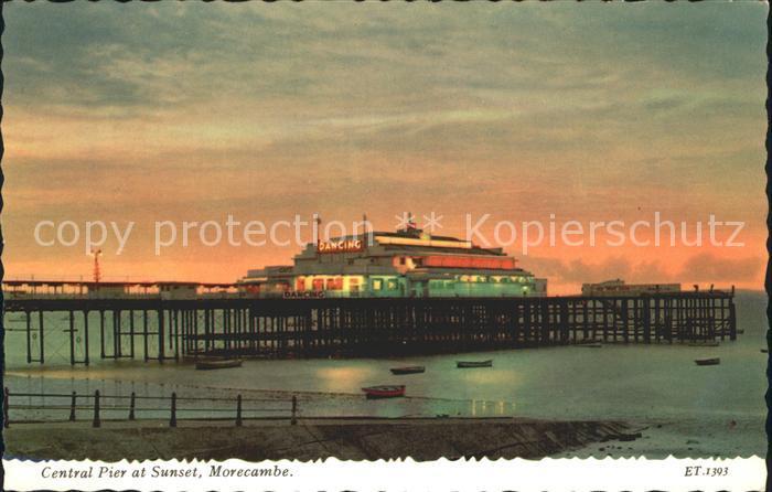 Morecambe Lancashire Central Pier Sunset Kat. City of Lancaster