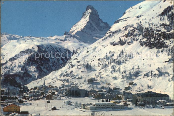 Zermatt VS Matterhorn Mt Cervin  Kat. Zermatt