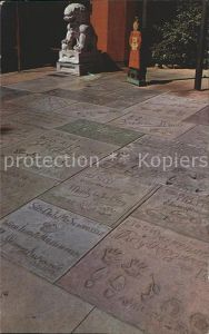 Hollywood California Footprints of the Stars Forecourt of Graumans Chinese Theatre Kat. Los Angeles United States