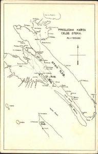 Otok Rab Landkarte Kat. Insel Rab