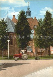 Oude Tonge Kerk mit Traktor Kat. Oude Tonge