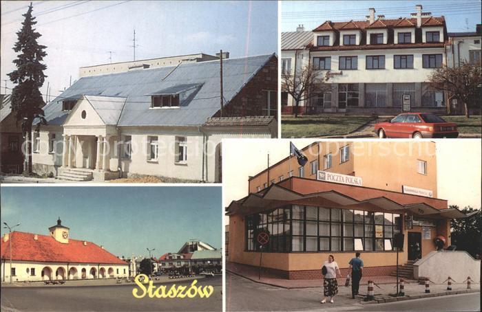 Staszow Ratusz Poczta Hotel Gwarek