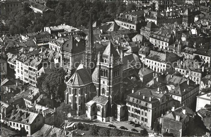 Geneve GE Cathedrale de St. Pierre Fliegeraufnahme Kat. Geneve