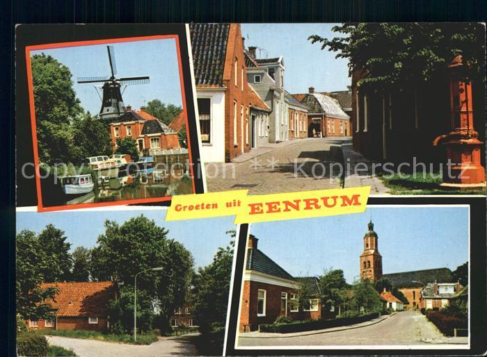 Eenrum Windmuehle Kirche Kat. Eenrum