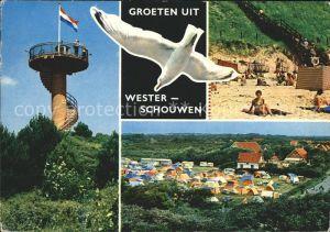 Schouwen Duiveland Moewe Turm Strand Camping  Kat. Schouwen Duiveland