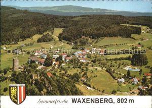 Waxenberg Oberneukirchen Burgruine Erholungsort Wappen Fliegeraufnahme