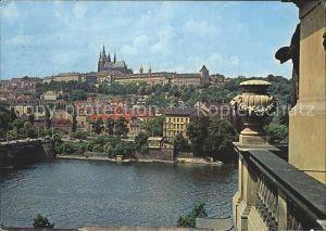Praha Prahy Prague Moldau mit Burg Kat. Praha
