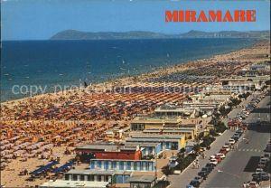 Miramare di Rimini  Panorama della spiaggia Strand Kat. Rimini