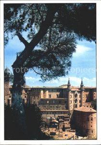 Urbino Scorcio del Palazzo Ducale con torricini Herzogspalast Kat. Italien