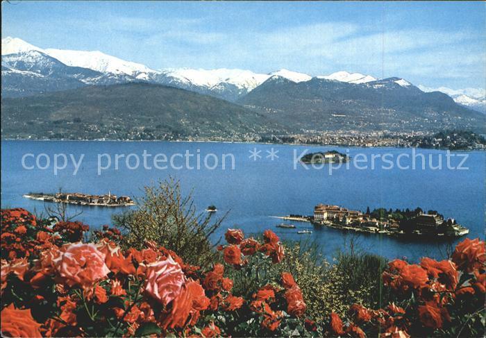 Lago Maggiore Isole Borromee Borromaeische Inseln Alpenpanorama Kat. Italien