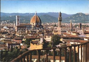 Firenze Toscana Panorama dal Giardino di Boboli Dom Palast Kat. Firenze