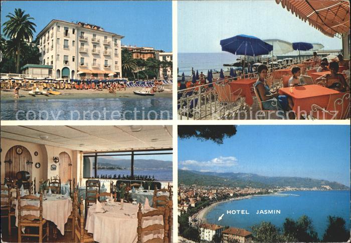Diano Marina Hotel Jasmin Restaurant Terrasse Strand Riviera Dei