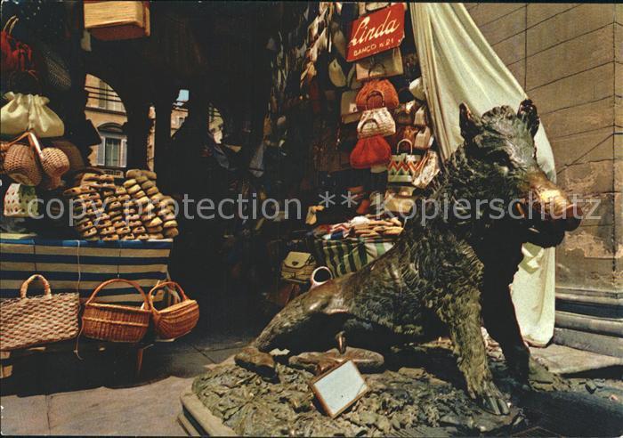 Firenze Toscana Loggia del Mercato Nuovo Il cinghiale del Tacca Kat. Firenze