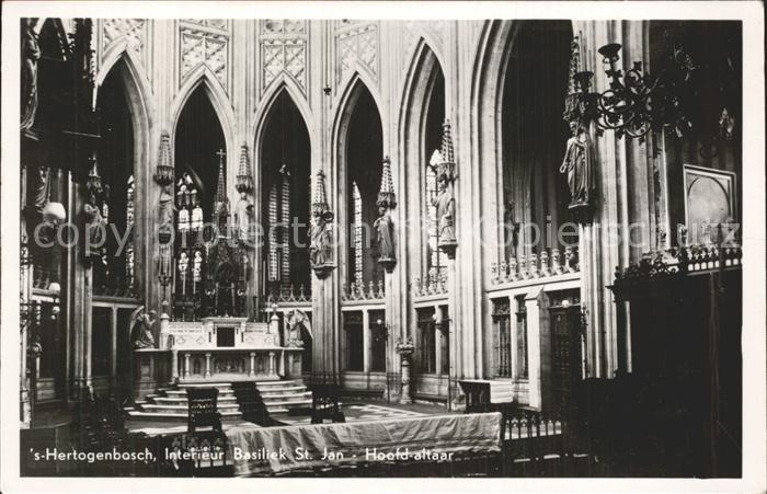 S Hertogenbosch Interieur Basiliek St Jan Hoofd altaar Kat. Den ...