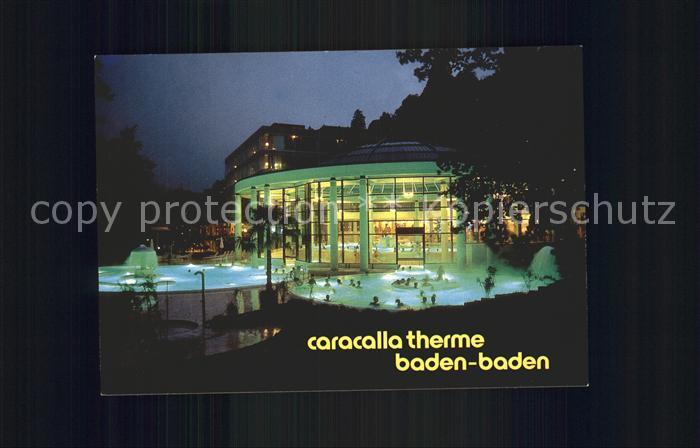 Baden Baden Caracalla Therme Nachtaufnahme Kat. Baden Baden