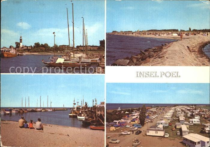 Poel Insel Hafen und Leuchtturm An der Mole Am Hafen Zeltplatz Kat. Insel Poel