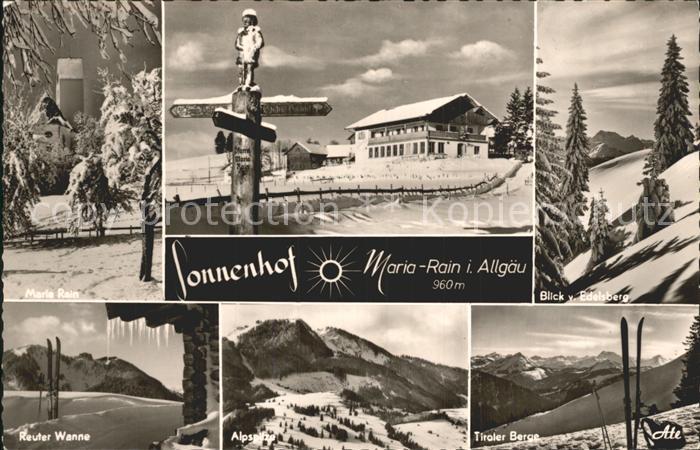 Maria Rain Allgaeu Reuter Wanne Tiroler Berge Alpspitze Ski Kat. Mittelberg Oy