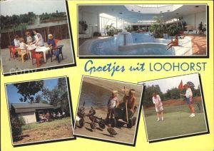 America Niederlande Gran Dorado Loohorst Hallenbad Terrasse Kinder mit Enten Golfspiel Kat. Horst aan de Maas