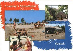 Opende Camping t Strandheem Strand Restaurant Kinderspielecke Kat. Opende