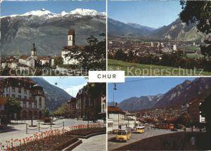 Chur GR Calanda Bahnhofplatz Postplatz Oberland Kat. Chur