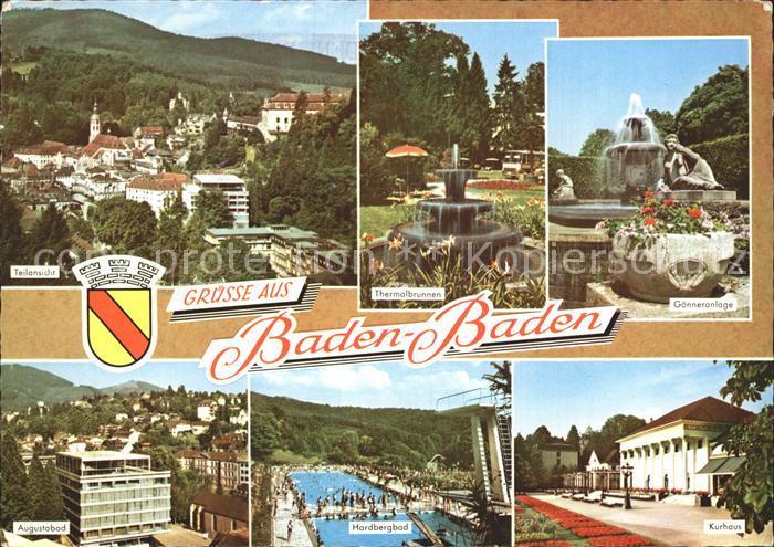 Baden Baden Goenneranlage Thermalbrunnen Bad Kurhaus Kat. Baden Baden