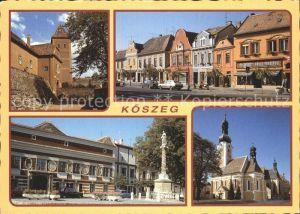 Koeszeg Guens Ortsansicht Kirche Schloss Kat. Ungarn