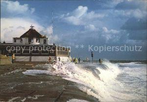 Borkum Nordseebad Sturmflut Kat. Borkum