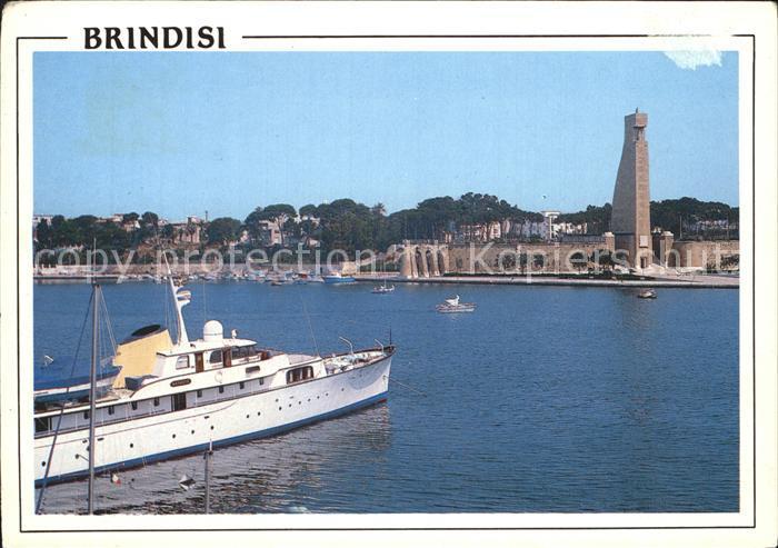 Brindisi Monumento al Marinaio d`italia Denkmal zum Matrosen von Italien Kat. Apulien