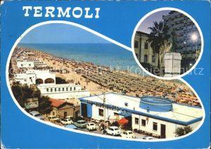 Termoli Panorama Strand Hotel Denkmal Statue Kat. Campobasso