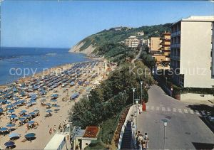 Gabicce Mare La spiaggia Kat. Italien