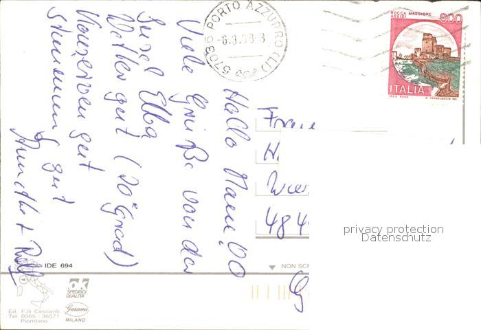 Procchio Elba Karte.Isola D Elba Reale Capo Bianco Cala Dell Innamorata Capo San Andrea Procchio Karte Kat Italien