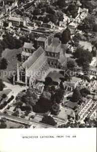 Hampshire South East England Winchester Cathedral from Air Kat. United Kingdom